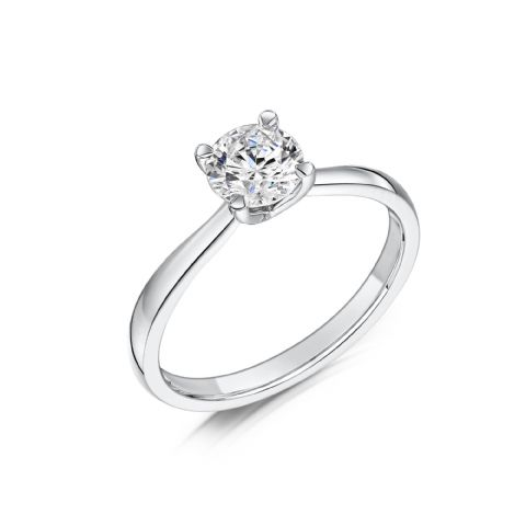 0.33 Carat GIA GVS V Diamond solitaire 18ct White Gold Round Engagement Ring MWSS-1202/033